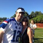 Laura Okmin with Aaron Rodgers