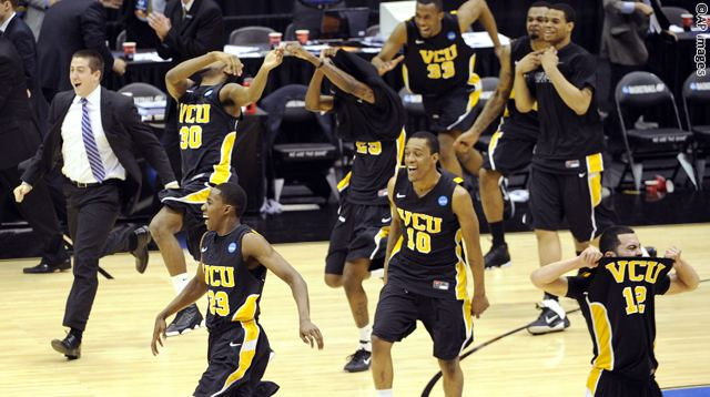 NCAA VCU Kansas Basketball