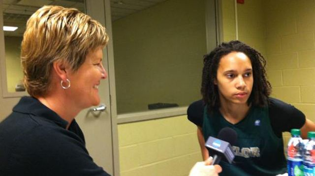 Brittney Griner with Brenda VanLengen