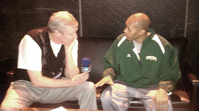 Norfolk State Coach Anthony Evans with Tom Brennan