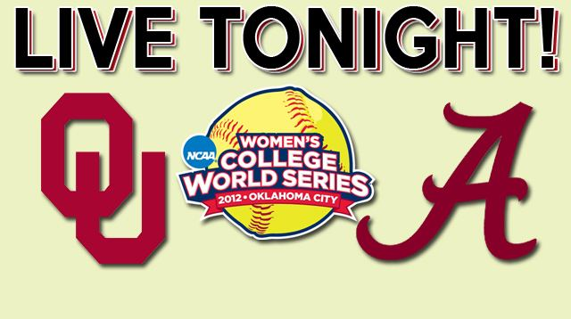 WCWS OU vs Bama Live Tonight