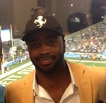 Curtis Martin with Scott and James
