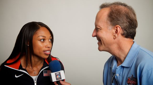Allyson Felix with Jim Gray
