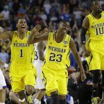 NCAA Michigan Kansas Basketball