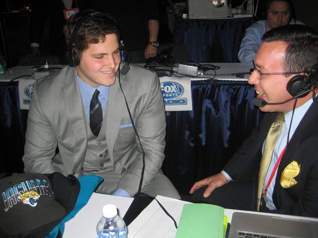 Luke Joeckel with Scott Graham at the 2013 NFL Draft