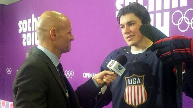 TJ Oshie with Steve Goldstein