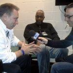 MSU Tom Izzo with JT and Ian Eagle