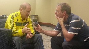 Michigan John Beilein with PJ Carlesimo