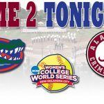 WCWS Gm 2 Tonight