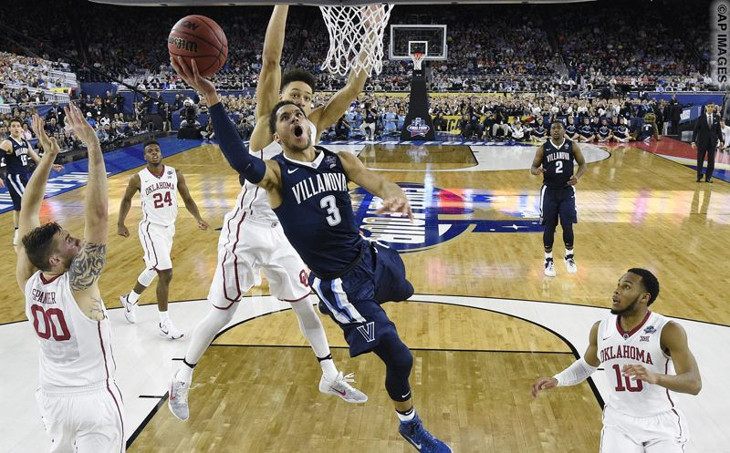 Villanova guard Josh Hart (3) shoots against Oklahoma during the first half of the NCAA Final Four tournament college basketball semifinal game Saturday, April 2, 2016, in Houston. (AP Photo/Chris Steppig, NCAA Photos Pool)