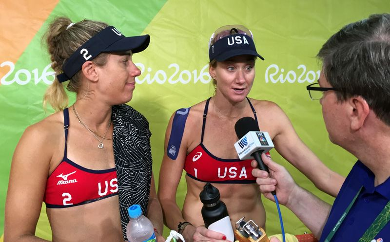April Ross and Kerri Walsh Post 800