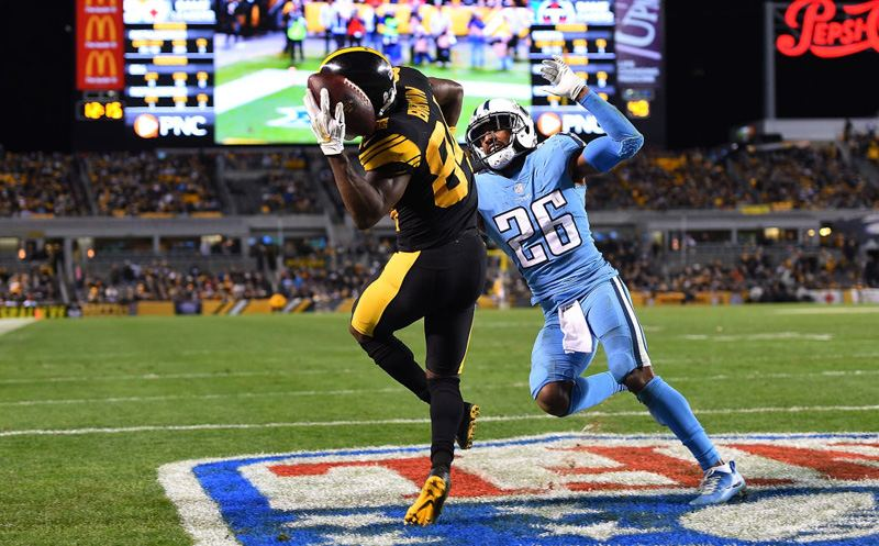 TNF Highlights: Brown shines as Steelers down Titans 40-17 ...