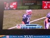 Brady\'s stats on the screen during the final drive