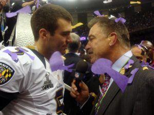 Mark Malone with Joe Flacco