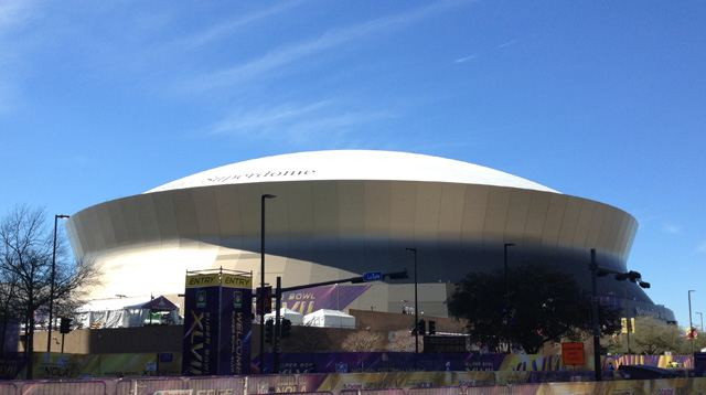 The dome was looking great as we made our way in this morning.