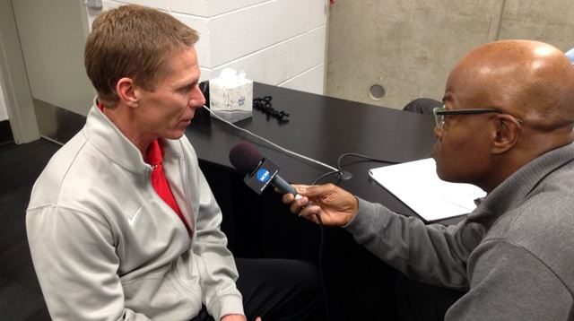 Mark Few with Dave Sims