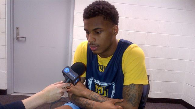 Vander Blue during his Westwood One Sports interview.