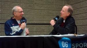 Jim Boeheim with Jim Gray