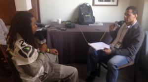 Richard Sherman with Rod Woodson