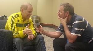 Michigan John Beilein with PJ Carlesimo