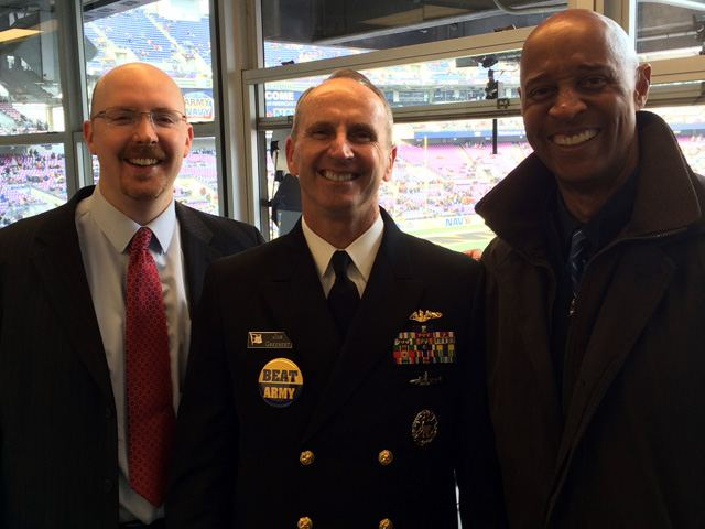 John Sadak and James Lofton with Adm. Jonathan Greenert, the Chief Naval Officer of the U.S. Navy